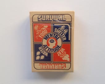 Unusual - Vintage  - Survival Playing Cards - 1974
