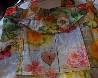 Flowers & butterflies lady's tote/shoulder bag