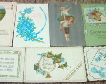 Lot of 14 Vintage Postcards (Forget.Me-Nots)