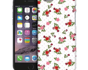 Red and Pink Rose Pattern Phone Case iPhone Cases, iPod Touch Cases, and Samsung Galaxy Cases