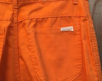 1970s Brittania Pants // Orange pants // vintage trousers // vintage pants // high waisted pants