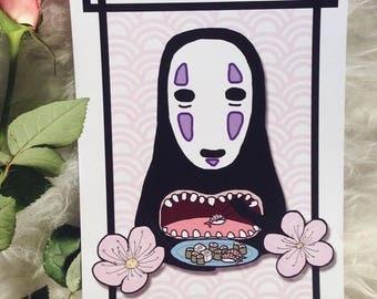 Sushi eating Kaonashi