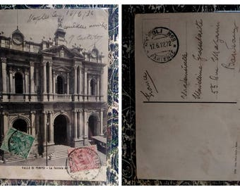 4 very vintage Italian postcards from Pompei, Naples - early '900