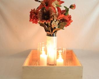 Square Wood Box, Square Wooden Box, Wood Box Centerpiece, Wooden Box Centerpiece, Square Wood Tray, Square Wooden Tray, Wood Box, Wooden Box
