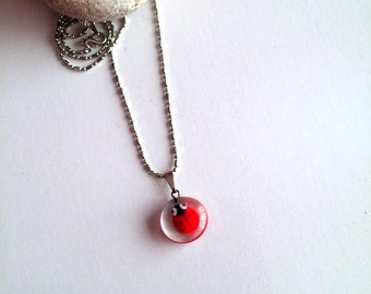 Ladybug Necklace, Women Necklace, Ladybug Charm Necklace, Insect Jewelry, Ladybug Jewelry, Gift For Her, Ladybird Necklace