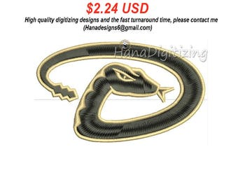 Arizona Diamondbacks Logo Machine Embroidery Design 3 Sizes