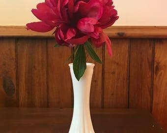 """Vintage Hoosier Milk Glass; 6"""" Bud Vase, Patern 4063-C"""