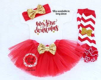Baby Girl First Christmas, Baby First Christmas Outfit, Girl First Christmas Outfit, Baby 1st Christmas Outfit, Baby Christmas Headband HC1