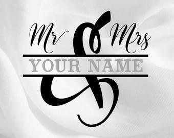 Wedding Svg, Marriage Svg, Love Svg, Mr and Mrs Svg - svg, dxf, eps, png, Pdf - Download - Cut File - Cricut Explorer - Silhouette Cameo
