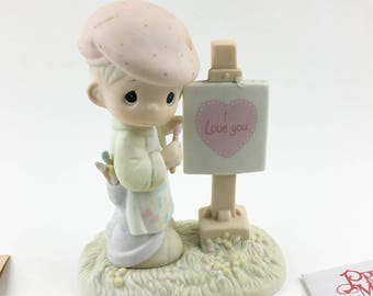 Vintage Precious Moments 1987 Members Only Loving You Dear Valentine Figurine PM-873