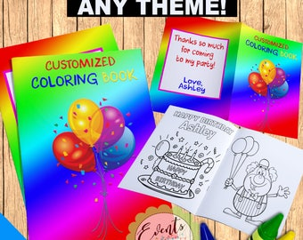custom coloring book personalized coloring book personalized favors custom party favors personalized