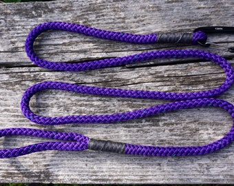 Rope Dog Leash ~ Purple 6 Foot Leash with Carabiner Clip ~ Lightweight and Durable ~ Water Dog Lead ~ Sheds water ~ quick dry dog leash