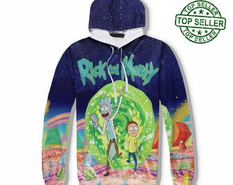 Rick and Morty Hoodie / Rick and Morty Hoodie / Rick and Morty / Casual hoodie / Size S M L XL 2X / FREE Worldwide Shipping