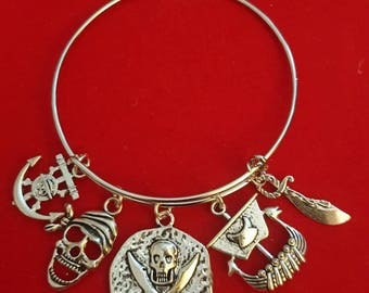 Pirate Themed Charm Bracelet