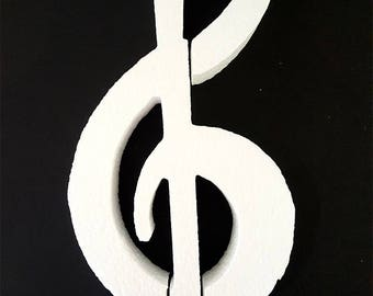 Styrofoam Musical Clef Cut Out,centerpieces,g-clef music note,music decorations,styrofoam shapes,music clef cut outs,styrofoam