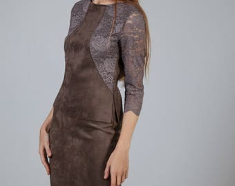 Chamois Leather dress and sweater suit
