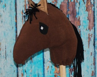 Brown Ride-on Stick Pony/Hobby Horse toy for imaginative play for kids