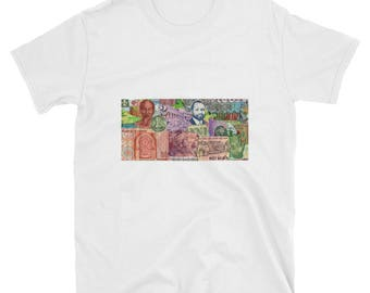 The Worlds Most Expensive T-Shirt: Collage T-Shirt, Foreign Currency, Money T-Shirt, Dollar T-Shirt, Vintage T-Shirt, Hipster T-Shirt