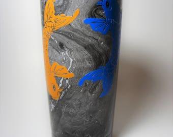 Yin Yang Koi Fish Black And White Hydrodipped Tumbler 20oz 30oz 32oz