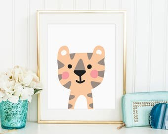 Sale 50% Off - Printable Baby Tiger art ( nursery decor instant download baby nursery art kids room decor nursery print animal nursery )