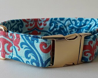 Vintage Vogue Turquoise Buckle Dog Collar