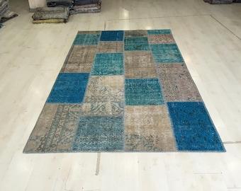 patchwork rug etsy. Black Bedroom Furniture Sets. Home Design Ideas