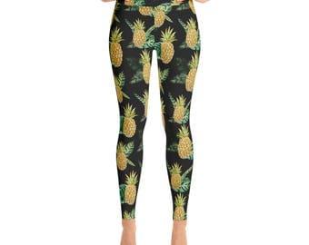 Pineapple Yoga Leggings Printed Leggings Yoga Workout Exercise Pants Woman's Leggings Yoga Pants