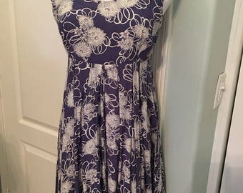 Vintage Rampage 90s Sleeveless Floral Blue Baby Doll Sundress