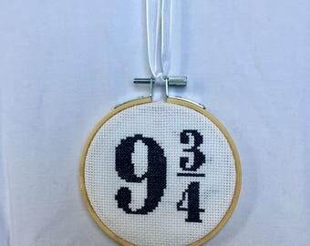 Harry Potter 9 3/4 Cross Stitch Decoration