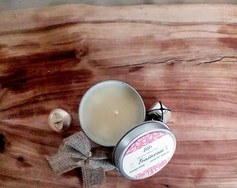 Mandarin & White Birch Soy Candle // 8oz. Candle Travel Tin // Hand Poured Candle // Luxury Candle // All Natural Candle // Candle Gift Idea