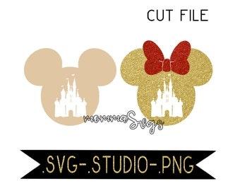 Castle In Mickey Head Svg, Studio, Png, Cut File