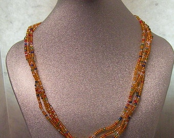 orange and mixed colors necklace