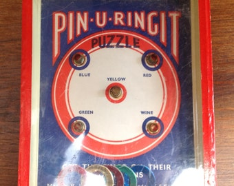 Vintage hoop puzzle by R Journet and Co 1940s