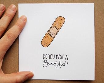 Handmade Valentineu0027s Day Love Card, Cheesy Pickup Line, Cute Illustration