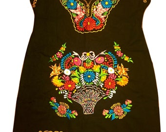 Mexican embroidered dress 10