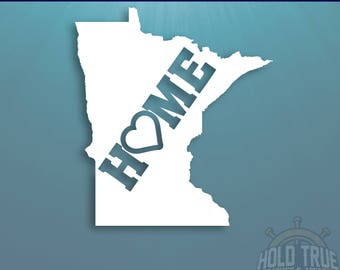 Minnesota Decal - PICK COLOR and SIZE - Minnesota Home Decal - Mn Decal - Minnesota Car Decal - Minnesota sticker - Minnesota car sticker