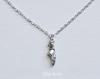 Ballet Shoe Necklace, Ballet Shoe Charm, Ballet Shoe Keepsake, Ballerina Gift, Silver Ballet Shoe Charm Necklace, Silver Ballet Charm
