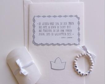 Gift set bracelet and card white