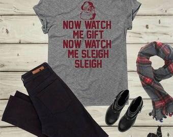 Sleigh Shirt, Funny Christmas Shirt, Sleigh all Day Shirt, Sleigh T-Shirt, Santa Shirt, Christmas gift, Holiday shirt, Christmas sweater