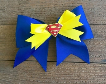 Costume hair accessories, Back to school hairbows, School hairbows,Superman hairbows, SuperGirl hairbows, Superhero Hair Accessories,