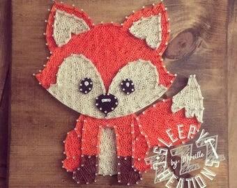 Woodland Baby Fox String Art