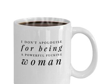 funny office coffee mugs. powerful woman coffee mug office gift funny mugs f