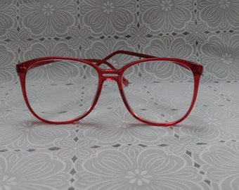 Vintage Red Acuravision Glasses 1980's For Frames Only (EG)