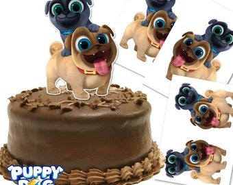 Puppy Dog Pals Cake Topper/ Double Sided/ Printable/ Puppy Dog Pals Centerpiece/ 9-7-5 inches tall/ Instant Download