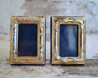 silver photo framesset of 2 miniature framesornated sterling mini photo frames - Mini Picture Frames