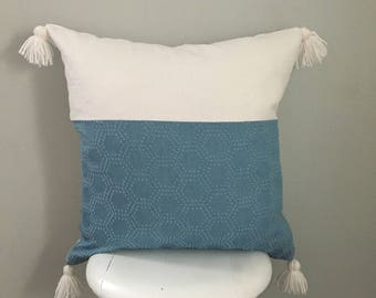 Denim/ Linen Pillow Cover