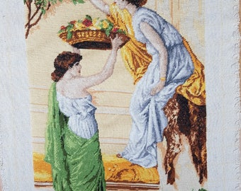 Tapestry - Embroidered pictures - Vintage Embroidered - Hand Made Embroidered - Rosebreakers.