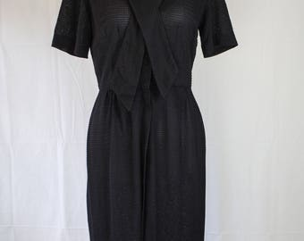 1960s Day Dress // 1960s Black Dress // Vintage Day Dress // Witchy Vintage Dress // Slimaker Dress // Little Black Dress // Summer Dress