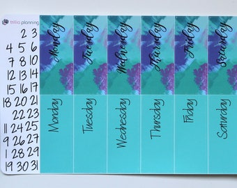 Big Happy Planner Date Covers - Painted Blue