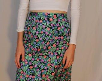 Floral Knee Length Skirt